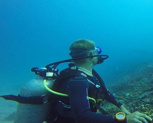 photo plongée bouteille ; palmes-masque-tuba scubapro